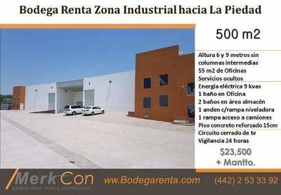 Bodega Renta 500 M2 Nueva Carretera Méx- Qro, Querétaro, México