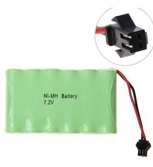 Bateria Para Carrinho 7,2v Aa 600mah Com Conector Smp02