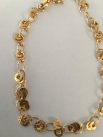 Pulseira Gold Link Banhada A Ouro