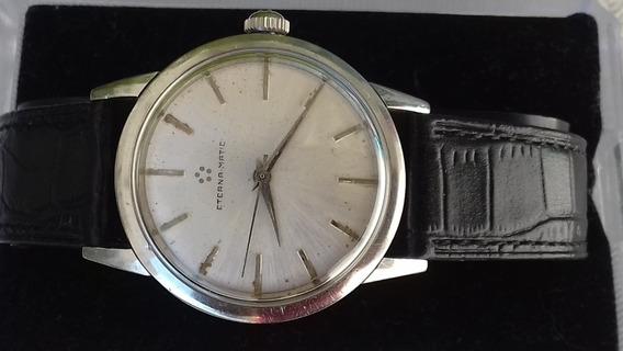Reloj Eterna Matic En Acero Automatico De Coleccion