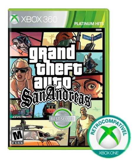 Grand Theft Auto San Andreas Gta Xbox 360 Fisica Lacrado Nfe