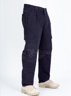 Pantalon Tactico Militar Azul Multibolsas Cargo Recto Combate Policia Deportes Extremos Camping Caza Viaje Safari Gotcha