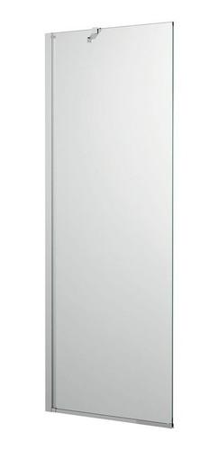 Mampara Baño Fija 80 X 190 Vidrio Incoloro 8 Mm Brazo Cromo