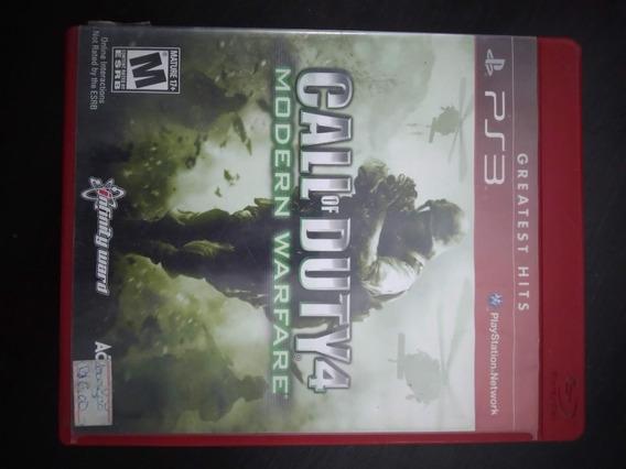 Jogo Call Of Duty 4 Modern Warfare Ps3 Playstation 3 Física