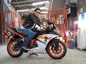 Motocicleta Ktm Rc 200 - 2017 - Poco Uso - Naranja
