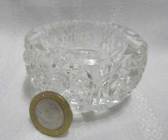 Antiguo Precioso Bowl Centro De Mesa Cristal Tallado