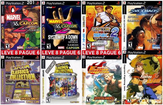 Capcom Ps2 Marvel Snk Fighting Coleção (8 Dvds) Patch Me