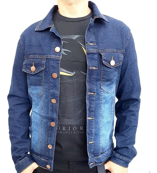 Jaqueta Jeans Masculina Com Elastano + Calça Jeans Feminina