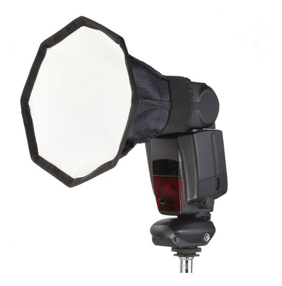 30 Cm Octagon Universal Mini Softbox Flash Difusor Câmera Po