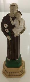 Imagem De Santo Antônio Segurando Jesus, 12cm, Resina + Brin