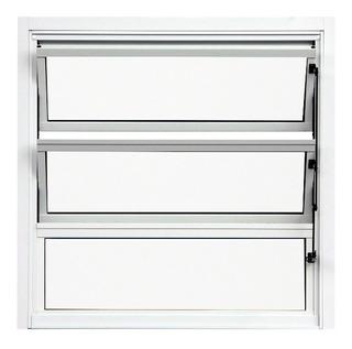 Janela Basculante De Alumínio Branco 0,60 X 0,60