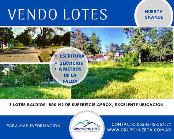 Vendo Terrenos En Huerta Grande