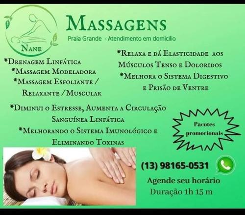 Imagem 1 de 10 de Massagem / Relaxante, Drenagem Linfática E Outras