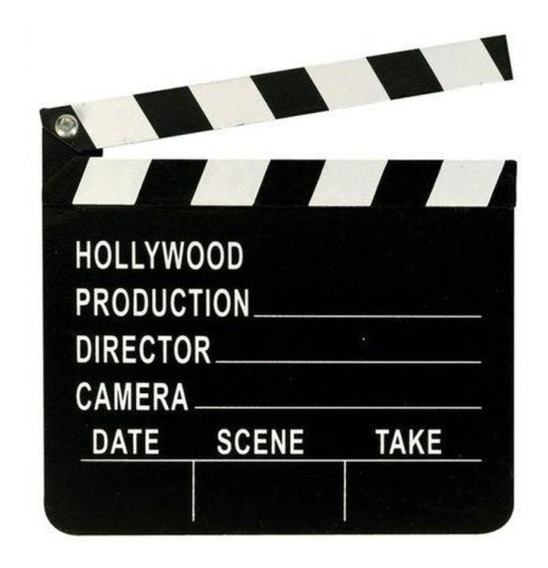 Claquete De Cinema Tv Hollywood Festa Decoracao 20cm X 18cm