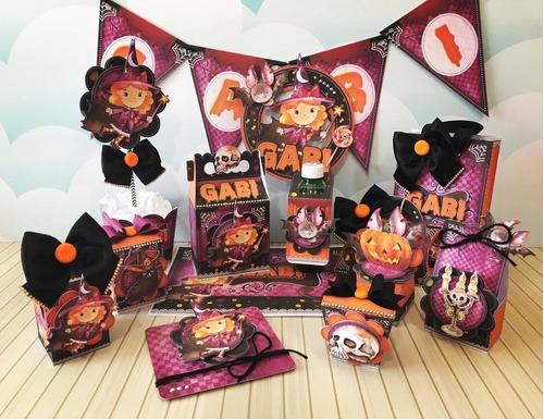 Imagem 1 de 4 de Kit Personalizados Tema Halloween - 40 Itens