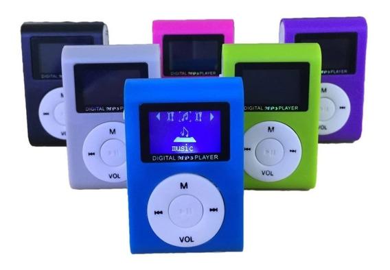 Mini Mp3 Player Tela Lcd Shuflle Clip Micro Sd