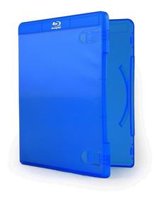 50 Estojo Capa Caixa Box Bluray Azul Rimo Com Logo