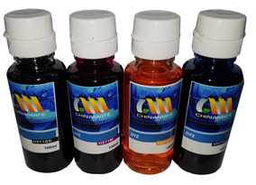 Kit 4 Tinta Refil 100ml Bulk Ink Hp Uso Universal