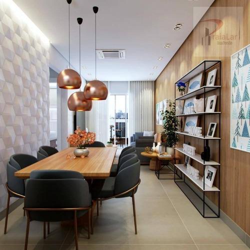 Apartamento À Venda, 62 M² Por R$ 348.000,00 - Aviação - Praia Grande/sp - Ap2466