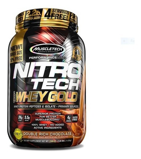 Nitrotech Whey Gold 2lb Double Rich Ch - L a $49050