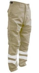 Pantalon Bolsas De Cargo Reflejante Paramedico Rescatista