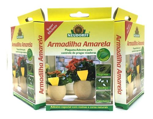 Armadilha Amarela / Plaqueta Adesiva Pequena Kit C/ 3 Und