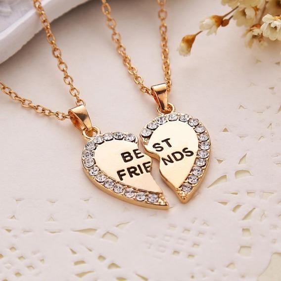 Colar Best Friends Melhores Amigas Coração