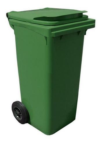 Carrinho Coletor De Lixo 120 Litros- Verde