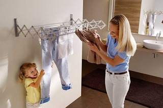Tendedero Plegable Para Ropa Metalico Para Pared Retractil