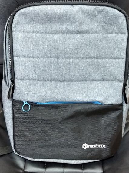 Mochila Para Notebook Mobox Smart 14` Negro C/gris (azul)