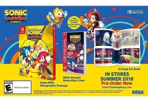 Sonic Mania Plus Artbook - Switch - Midia Fisica!