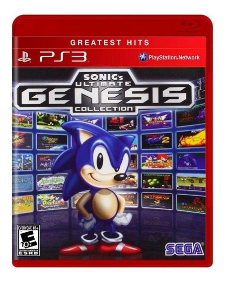Sonics Ultimate Genesis Collection Ps3 Mídia Física Lacrado