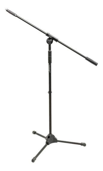 Suporte Pedestal P/ Microfone Ibox Smfull Girafa Metal Preto