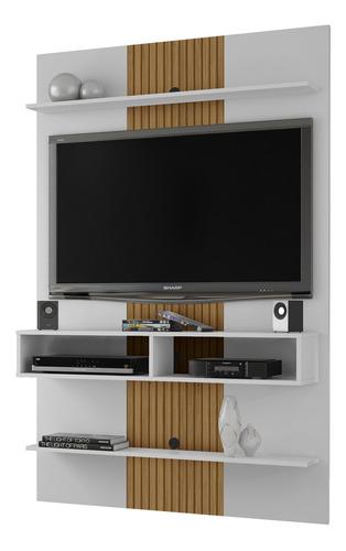 Painel Vega Para Tv De 47 Polegadas - Branco/ripado