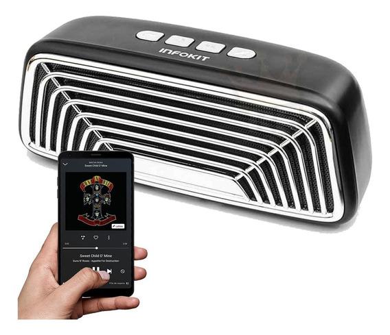 Caixa Caixinha De Som Bluetooth Portátil Retrô Mp4 P2 Radio