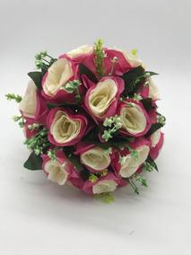 Buquê Artificial Casamento Festa De 15 Anos Rosa