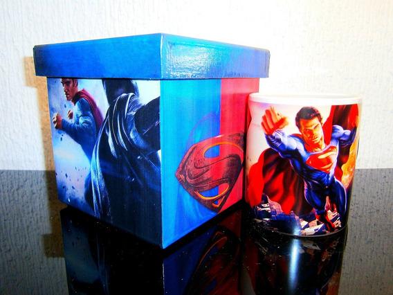 Regalo Superman Movie!! Estuche Y Taza Colleccionable
