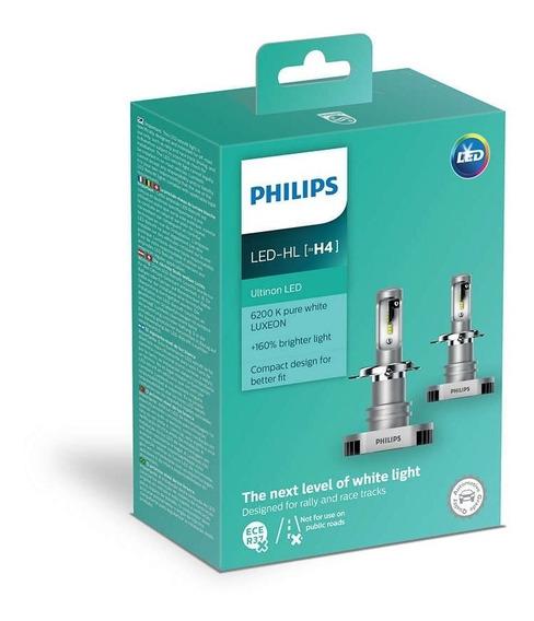 Par Lâmpada Philips Led Ultinon 6200k +160% Promoção