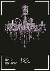 Lustre De Cristal K9 - Aaa 6 Braços Trevi - Lc067-6