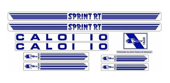 Adesivo Bicicleta Antiga Caloi 10 Sprint Rt Azul