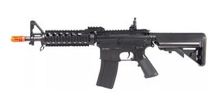 Kit Rifle Airsoft Cyma Cm505 + Grip, Zarelho E Bandoleira