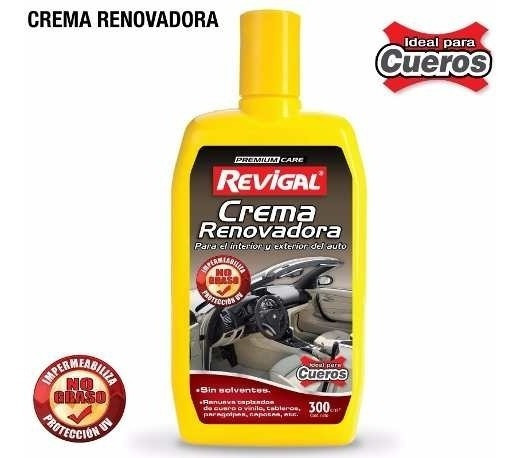 Crema Renovadora Plasticos Cuero Cuerina Auto Coche Revigal