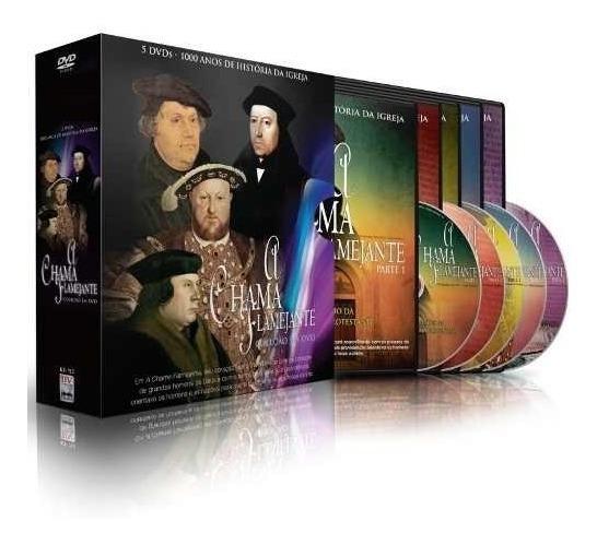 Box A Chama Flamejante Dvd 1000 Anos História Da Igreja