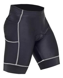 Bermuda De Ciclismo Mtb Masculina Flex Refactor Com Bolso