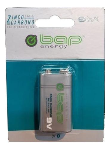 Imagem 1 de 2 de Pilha Bateria 9 Volts Bap Energy Bap-6f Não Recarregável