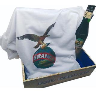 Especial Regalo Caja + Fernet Branca+ Remera Personalizada