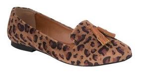 Flats 86538 Slippers Animal Print Leopardo 2-7 Flecos Barbas