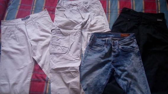 Combo Pantalones Jeans, Cargo, Pinsado Y Gaucho Sport