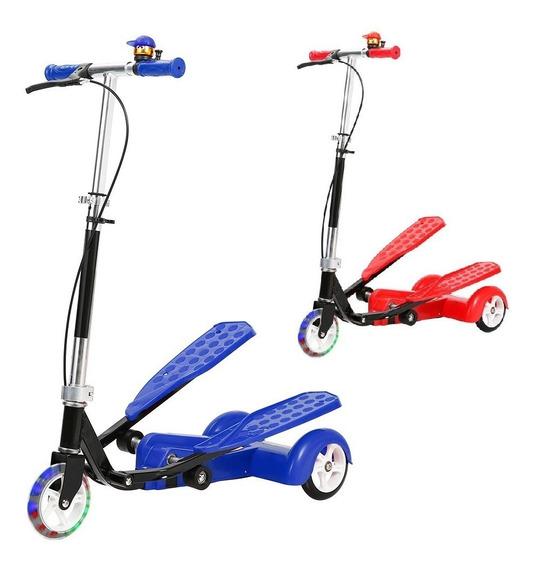 Patinete Transport Infantil Radical C/ Campainha Led 3 Rodas