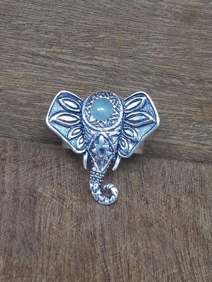 Anel Elefante Pedra Da Lua 6.6 Ag925